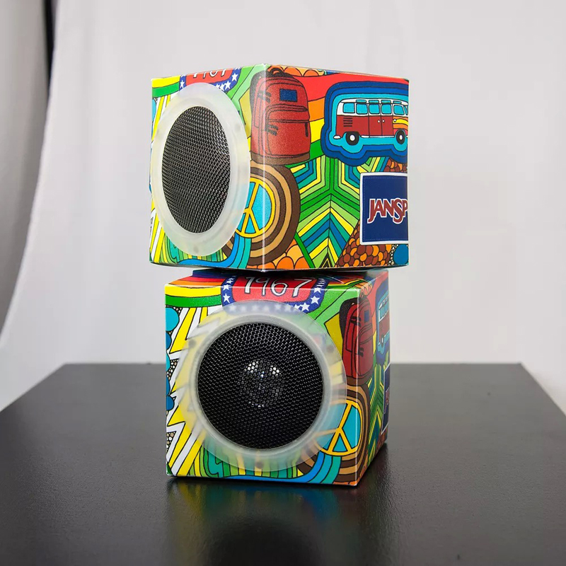 Fold And Play Recycled Speakers